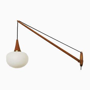 Lámpara de pared ajustable sueca Mid-Century de Uno & Östen Kristiansson para Luxus, años 60