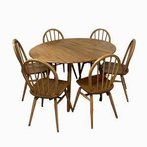 Dining Table and Chairs from Ercol, 1960s
