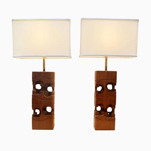 Sculptural Table Lamps by Brian Willsher, 1960s, Set of 2