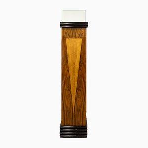 Lámpara de pie de columna portuguesa estilo Art Déco, años 60