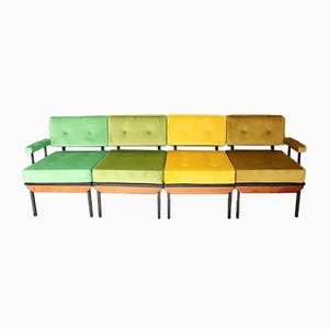 Sofá modular italiano vintage, años 60