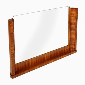 Italian Art Deco Macassar Ebony Wall Mirror by Osvaldo Borsani