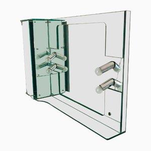 Rechteckiger Vintage Badezimmerspiegel von Fontana Arte, 1970er