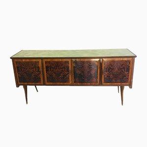 Buffet vintage in legno e vetro, anni '60