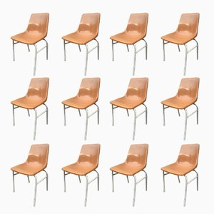Vintage Plastic Chairs from HB, Set of 12