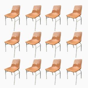 Vintage Stühle aus Kunststoff von HB, 12er Set
