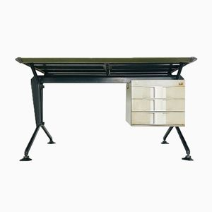 Vintage Italian Iron Desk from Olivetti