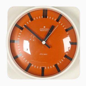 Reloj de pared vintage de vidrio y plástico de Junghans