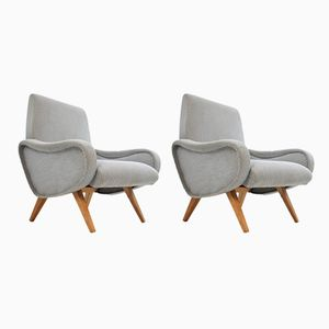 Vintage Grey Armchairs, 1970s, Set of 2