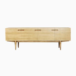 Japanisches minimalistisches Mid-Century Sideboard aus Eschenholz & Eiche 1960er