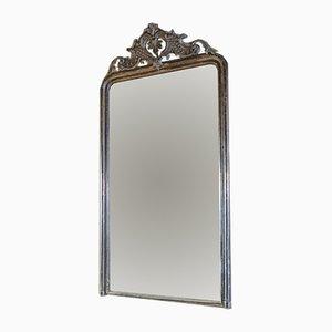 Espejo Luis XV francés antiguo plateado