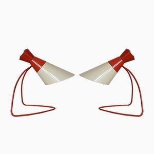 Lámparas de mesa de Josef Hůrka para Napako, años 60. Juego de 2