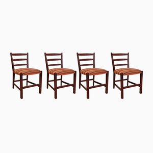Vintage African Hardwood Chairs, Set of 4