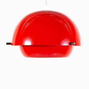 Lámpara colgante danesa Mid-Century de metal