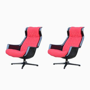 Galaxy Swivel Lounge Chairs by Alf Svensson & Ingve Sandström for Dux, 1968, Set of 2