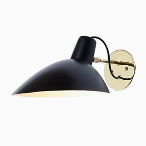 Black Visor Wall Sconce by Vittoriano Vigano for Arteluce, 1950s