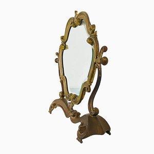 Specchio da tavolo in ottone, anni '40