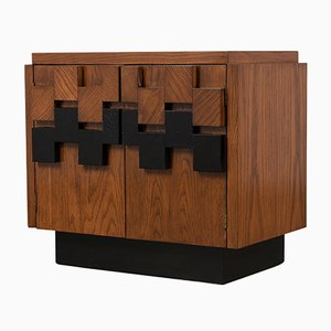 Brutalist Nightstands, 1940s, Set of 2