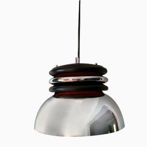Lampe à Suspension Chromée Space Age, 1970s