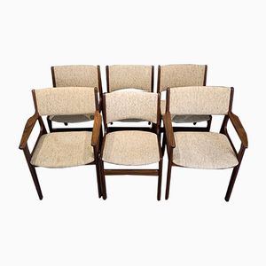Danish Dining Chairs and Carvers by Erik Buch, 1960s, Set of 6