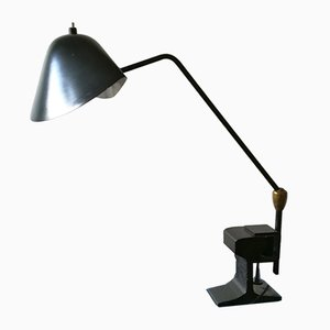 Clamp Lamp with 2 Ball-and-Socket Joints by Serge Mouille, 1958