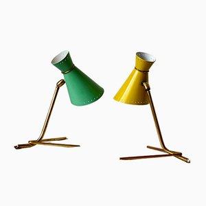 Lámparas de pared escandinavas de Sven Haage para Holm Sorensen, años 50. Juego de 2