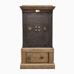Antique Oak & Steel Safe