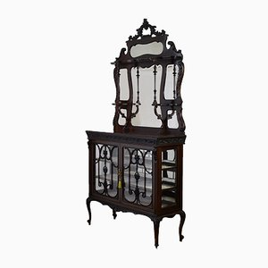 Antique Edwardian Mahogany Display Cabinet from James Howell & Co, 1900s