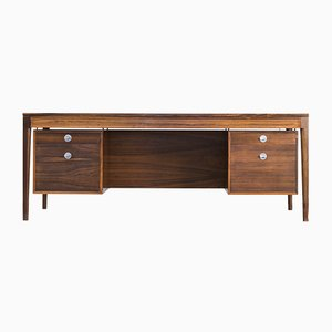 Rosewood Technocrat Executive Desk by Finn Juhl for France & Son, 1960s