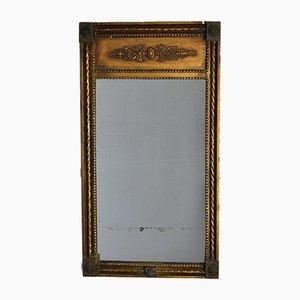 Espejo trumeau georgiano pequeño dorado, década de 1820