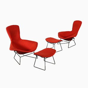Armchairs & Stools by Harry Bertoia for Knoll Inc., 1960s, Set of 2