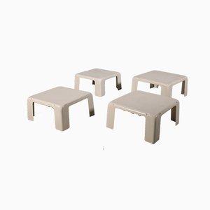 Mesas auxiliares apilables de plástico de Mario Bellini para C&B Italia, años 60. Juego de 4