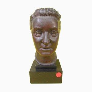 Bronzebüste einer Frau von Vriens, 1950er