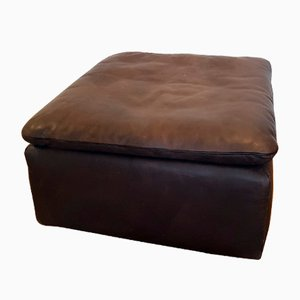 Square Leather Ottoman from de Sede, 1980s