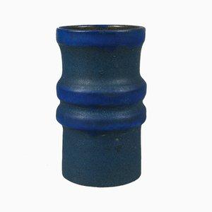 Vaso in ceramica blu di Henny Radijs, 1971