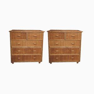 Bamboo Dressers, 1960s, Set of 2