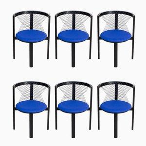 Stühle mit Riemenlehnen von Niels Jørgen Haugesen für Tranekaer, 1980er, 6er Set