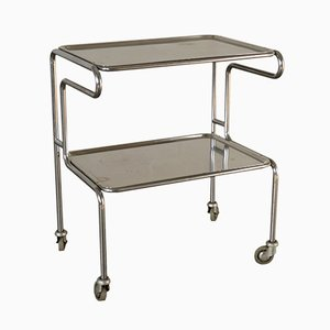 Chromed Aluminium & Metal Service Cart, 1960s