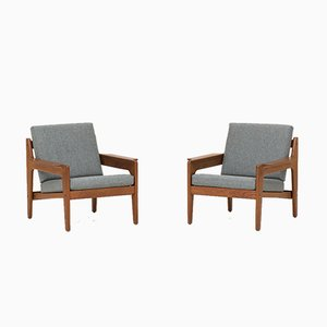 Easy Chairs by Arne Wahl Iversen for Komfort, 1960s, Set of 2