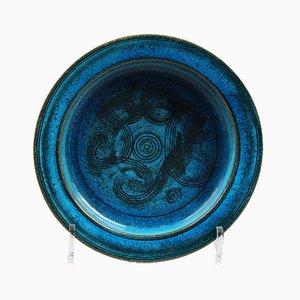 Cuenco egipcio azul de Nils Kähler para Kähler, años 60