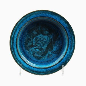 Egyptian Blue Bowl by Nils Kähler for Kähler, 1960s