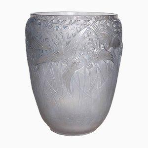 Egrets Vase von Rene Lalique, 1926