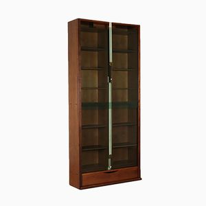 Vintage Walnut Veneered Bookcase by Carlo Scarpa for Bernini