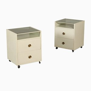 Nightstands on Wheels by Carlo de Carli for Luigi Sormani, 1960s, Set of 2