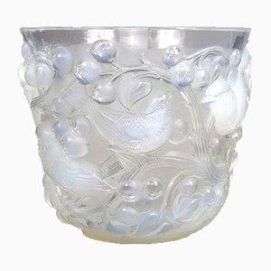 Avallon Opaline Glass Vase by René Lalique, 1927