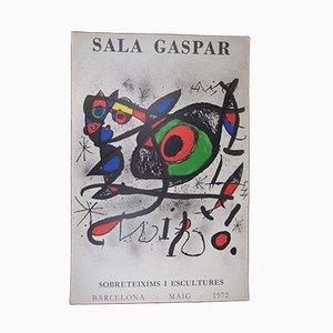 Affiche Joan Miró Sobreteixims i Escultures, 1972