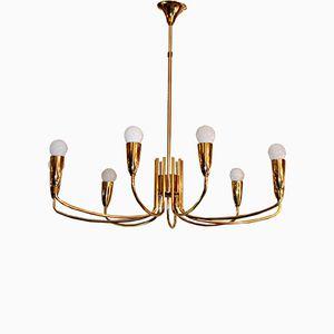 Lampada vintage in ottone dorato di Metalarte