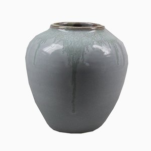 Japanese-Style Ceramic Vase from Groeneveldt Aardewerkfabriek, 1950s