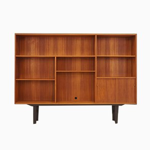 Danish Teak Highboard with Shelves, 1970s