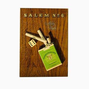 Insegna pubblicitaria Salem nr. 6 Virgin delle sigarette Yenidze di Herbert Leupin, 1956